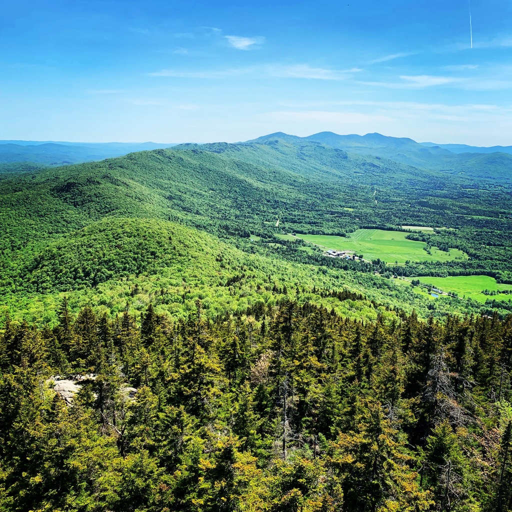 A view from the Green Mountains of Vermont